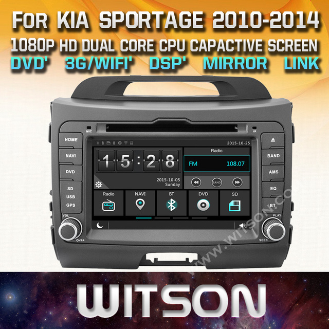 Witson Kia Sportage Car Dvd Gps New Technology Capctive Screen 1080p