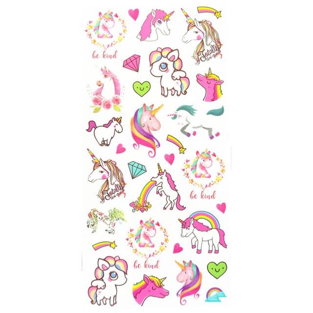 Водонепроницаемый временные поддельные татуировки наклейки Розовый Единорог Лошадь C Книги по искусству Ун Дизайн Детские тела Книги по искусству макияжа