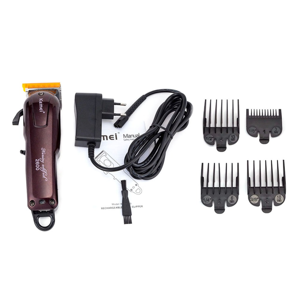 Kemei hair clipper professional electric hair clipper cordless hair cutting machine hair care and styling tools razor 5