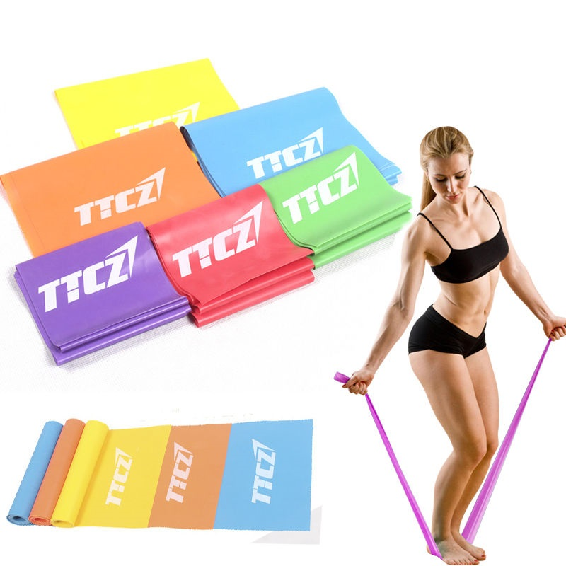 New Rubber Elastic Yoga Resistance Bands Exercise Fitness Loop Rope Stretch Band Crossfit Strength Weight Training Yoga