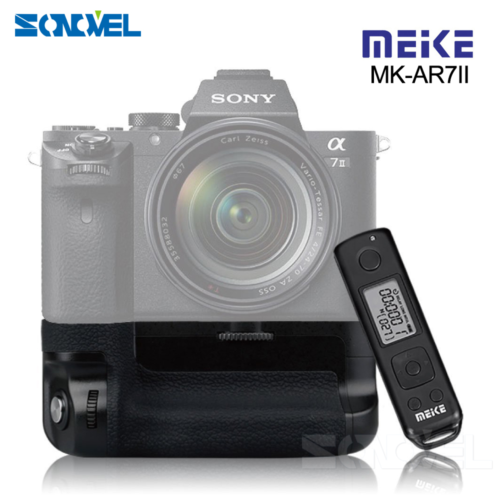 Meike MK-A7II Pro Built-in 2.4g Wireless Control Battery Grip for Sony A7 II A7II A7SII A7MII A7RII As Sony VG-C2EM meike mk d500 pro vertical battery grip built in 2 4ghz fsk remote control shooting for nikon d500 camera as mb d17