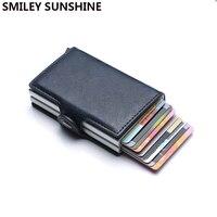 Одежда высшего качества Rfid Бумажник Для мужчин деньги сумка, миниатюрные кошельки HD солнцезащитные очки для мужчин Чехол-портмоне с отделе...