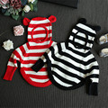 High Quality Kids Sweaters New Baby Girls Long Sleeve Striped Cotton Hooded Knitwear Fashion Kids 2-7Years Toddler Sweater