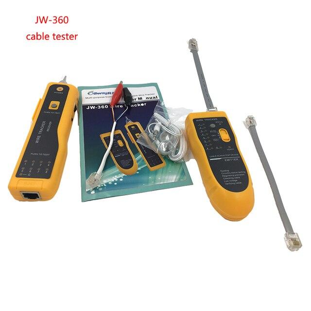 JW 360 LAN Network Cable Tester Cat5 Cat6 RJ45 UTP STP Line Finder ...