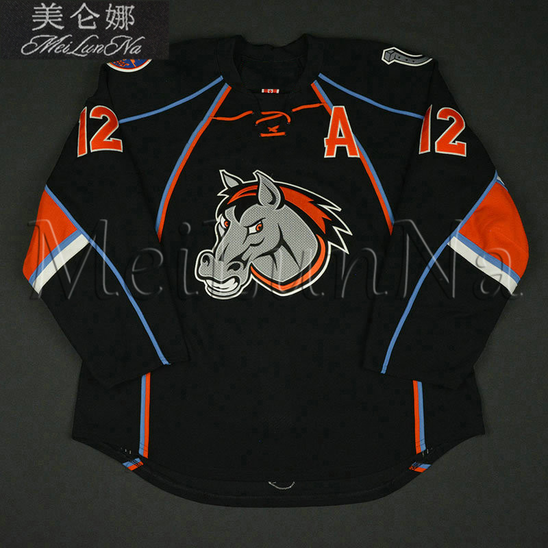 MeiLunNa Custom ECHL Missouri Kansas City Mavericks Hockey Jerseys 12 Rocco  Carzo 24 Carlyle Lewis Sewn On Any Name NO.Size d96193f92