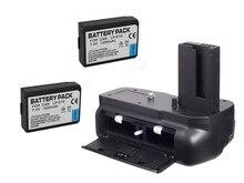 New vertical battery titular aperto pack + 2 x lp-e10 para canon eos 1100d/1200d/1300d rebel t3/t5 câmera livre de rastreamento do transporte