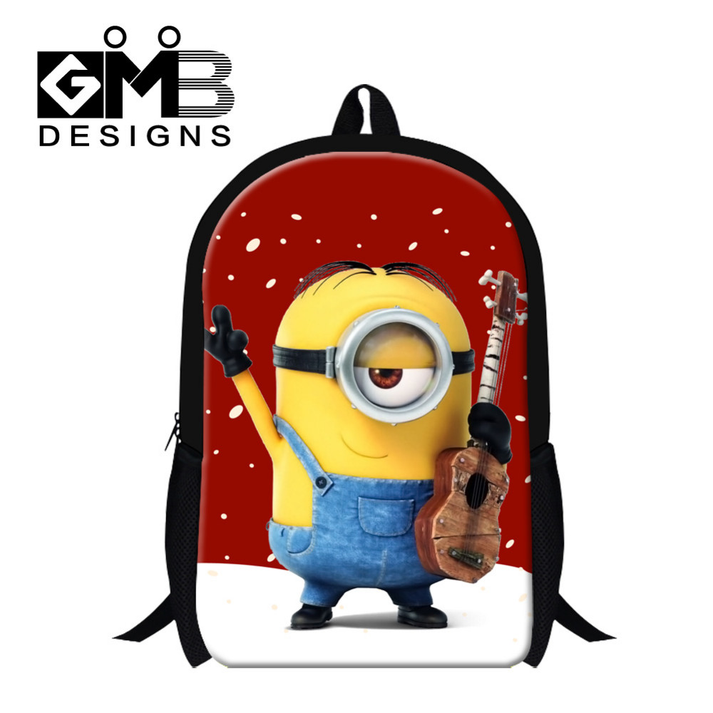 Minions 2016 Fashion Kids Cartoon Backpack Yellow Minions Girls School Bag Cute Despicable Me Minions Kids Shoulder Bag Boys Schoolbags