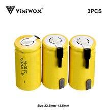 Subc 1,2 в 1500 мАч Ni-CD SC аккумуляторные батареи Электроинструмент батареи ячейки для робота Makita AEG Black& Decker Bosch Электрический