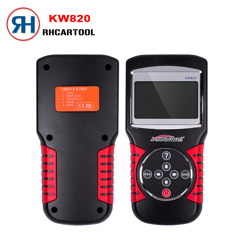 Цена за Konnwei KW820 OBDII EOBD автомобильной ошибки читателя Кода диагностики OBD2 сканирования универсальный инструмент для нас азиатских европейских OBD автомобиля
