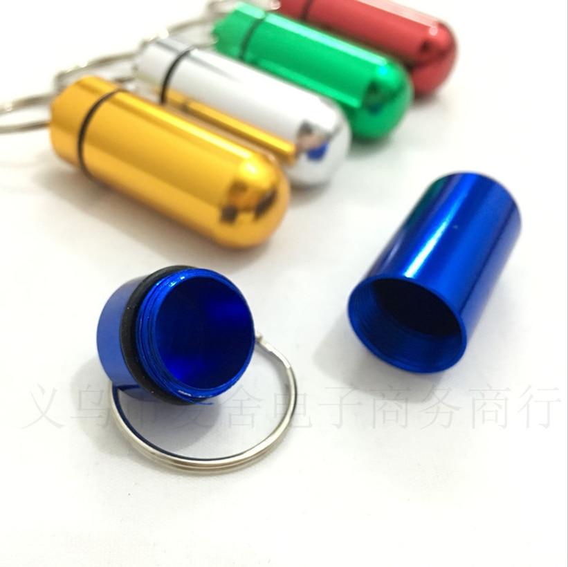 Case Bottle-Container Tablet Pills-Organizer Aluminum Waterproof Storage-Box Medicine
