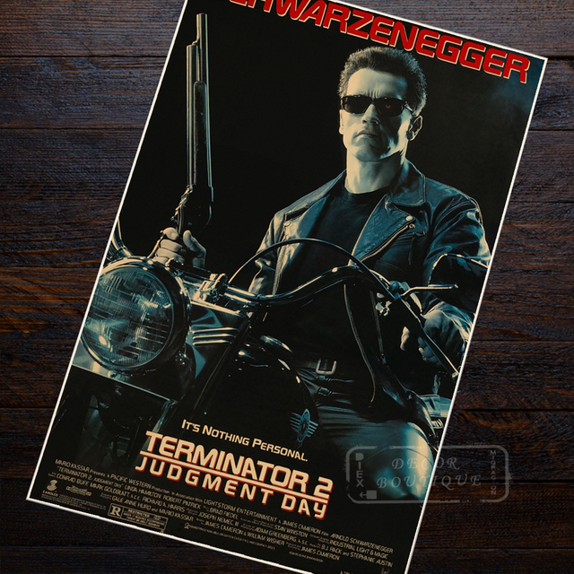 Terminator Judgement Day Sci-Fi Movie Film Vintage Retro Decorative Frame Poster DIY Wall Canvas Stickers Home Posters Home Deco