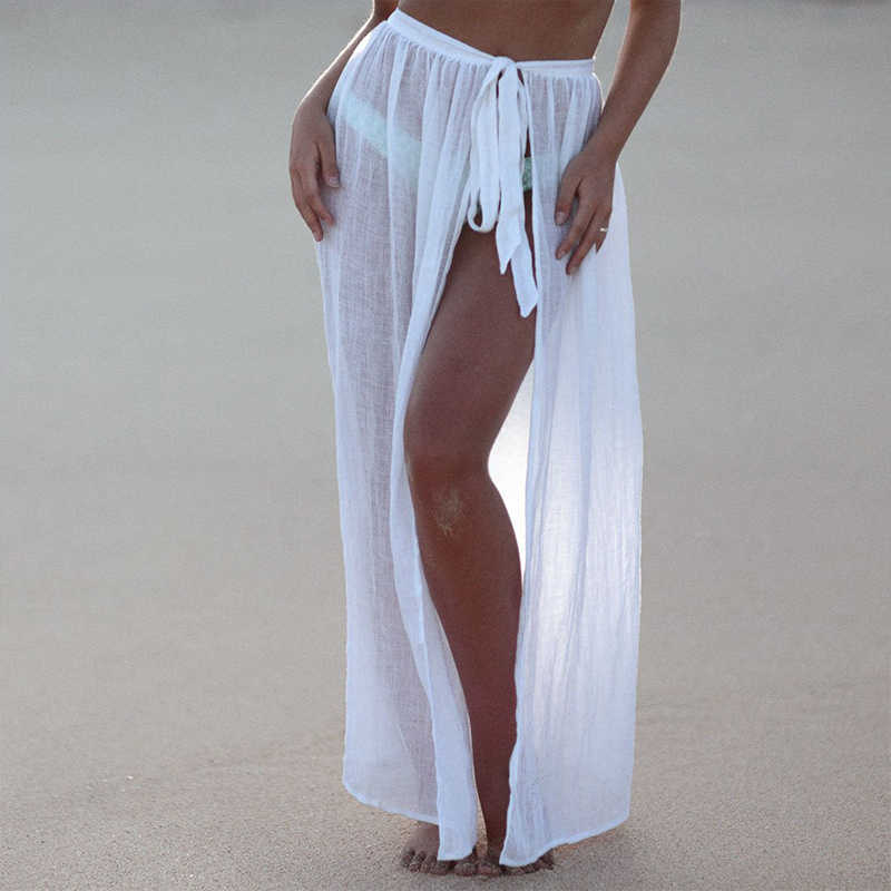 66bf1f3b6f4 ... Sexy Beach Cover Ups Wrap Maxi Skirt Bikinis 2019 Swimsuit Female  Swimwear Women Solid Pareo Summer ...