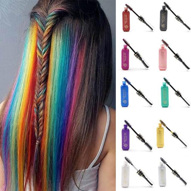 Voorkeur Top kwaliteit Tijdelijke Kleur Haarverf Mascara niet giftig Haar &YN22