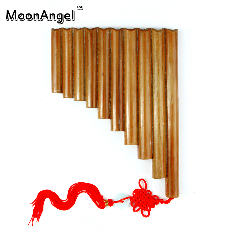 Bamboo 10 pipes pan flute panpipes musical instrument paternity aids xiao цены
