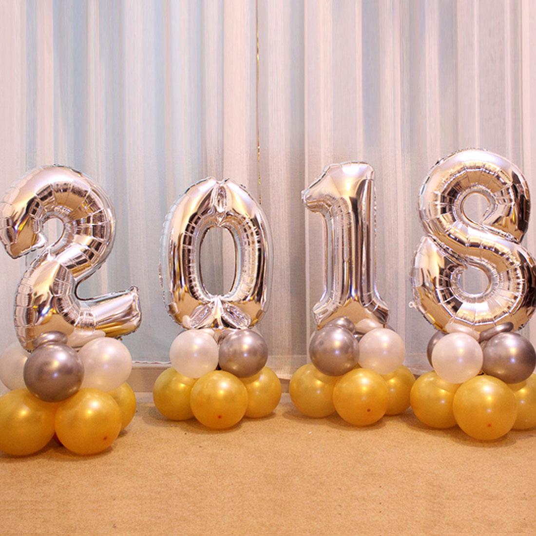 Aliexpress.com : Buy 4 Pieces 2018 Number Foil Balloons ...
