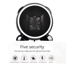 500 W Handy Electric Heater Portable Mini Room Air Heater Desktop Warmer for Home and Office in Winter