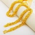 Hip hop masculino jóias amarelo ouro cheio de corrente colar dragão design