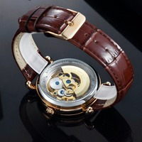 TIME100 - Mechanical Skeleton Watch - Hollow Out Self-wind 3