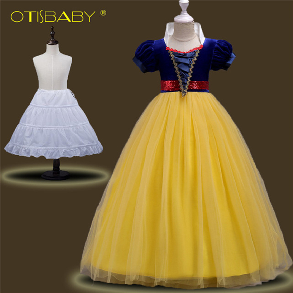 Snow White Girls Dress Summer Style Costume For Kids Dresses Baby Girl Clothes Princess Infant Party Dress Teenager Short Sleeve ...