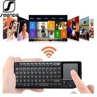 SeenDa 2 4G Wireless Tastatur mit Touchpad für Spiel Tragbare Bluetooth 3 0 Tastatur Unterstützung Android für Apple Smart TV