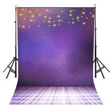 5x7ft Pantone 18-3838 Backdrop Hanging Lights for Photo Shoot Background Studio Props