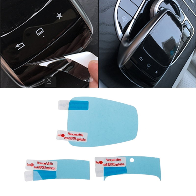 3PCS For Mercedes Benz Center Console Mouse Touch Protective Film Fit For Mercedes Benz C/E/S/V/GLC/GLE Class Drop Shipping