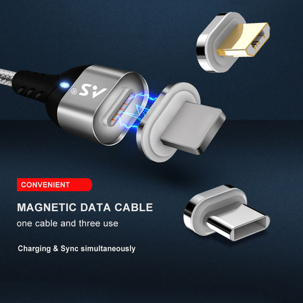A.S Magnetic Cable Micro USB Type C Super Fast Charging Phone Microusb Type-C Magnet Charger usb c For iphone huawei xiaomi Data 10