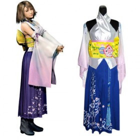 aliexpresscom buy final fantasy x yuna cosplay halloween costume custom made from reliable yuna cosplay suppliers on love cosplay store