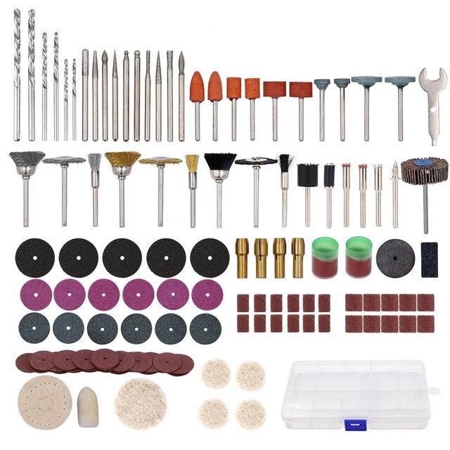 169Pcs Mini Elektrische Boor Multi Rotary Tool Accessoires Set Slijpen Polijsten Roterende Polijsten Kits Voor Dremel Accessoire