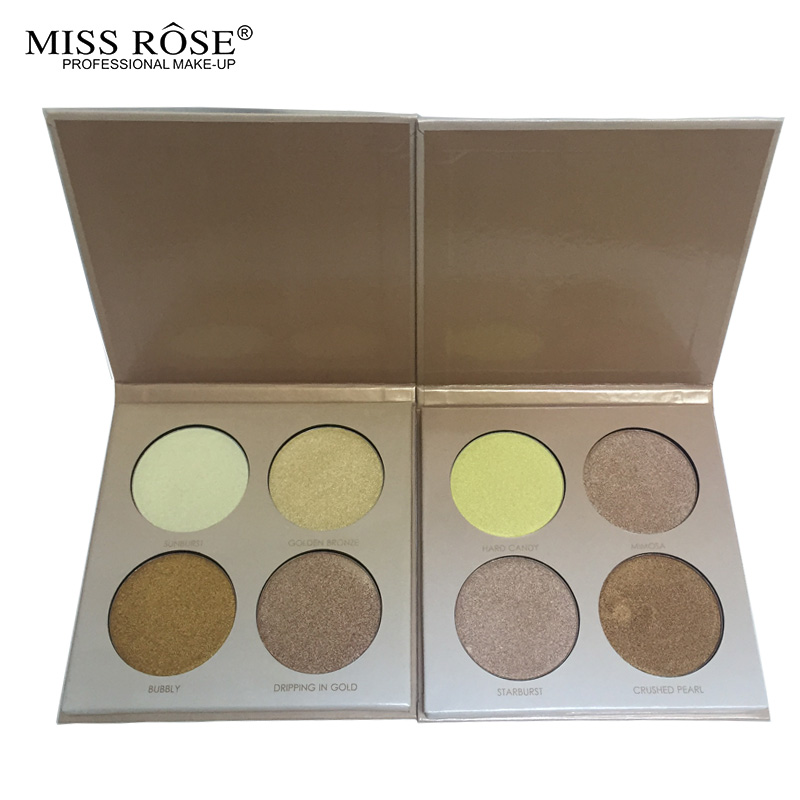 MISS ROSE GLEAM & GOLDEN kit Chocolate illuminator Contour Kit Birthday Edition Face Bronzer&Highlighter Contour Makeup Palette1