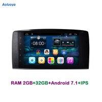 Aoluoya ips Оперативная память 2 ГБ + 32G Android 7,1 автомобильный dvd-плеер с двумя цифровыми входами gps навигации для Mercedes-Benz R серия, винтовой мотор-W251 ...