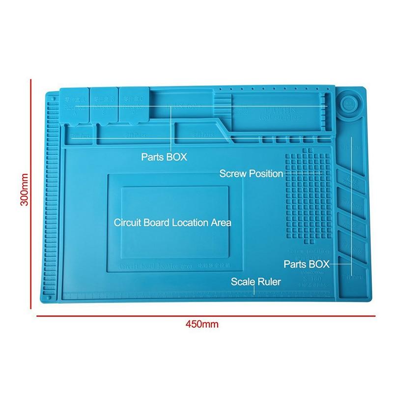 ESD Heat Insulation Working mat Soldering Station Iron Phone Computer Repair Mat Magnetic Heat-resistant BGA  Insulator Platform 4
