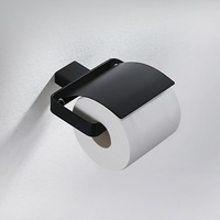 Contemporary Style Matte Black Stainless steel Toilet Paper Holder Bathroom Kitchen Paper Tissue Roll Hanger Wall Mount