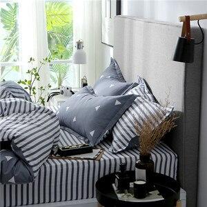 Image 2 - Slowdream フラットシート寝具セット北欧ダブルツイン布団カバーセット家の装飾のベッドリネンセット寝具大人寝具