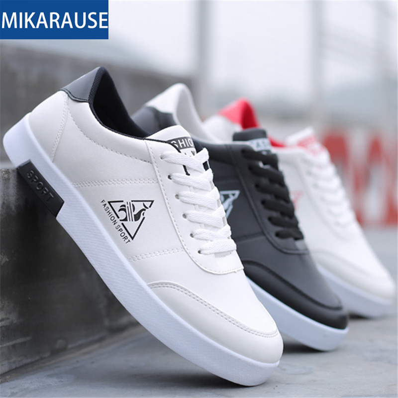 Fashion Sneakers Men White Casual Shoes Teenager Comfortable Soft Skateboarding Footwear Mens Basic Sport Tenis Shoes For Male