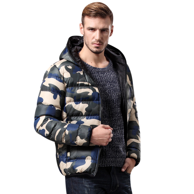 2018 Brand Mens Clothing Winter Jacket With Hoodies Outwear Warm Coat Male Solid Winter Coat Men Casual Warm Down Jacket