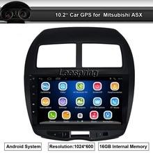 10.2 polegada HD Maior Monitor Touch screen Android Car Gps Nav para Mitsubishi ASX Sem DVD Player Embutido wifi BT Rádio Am/Fm