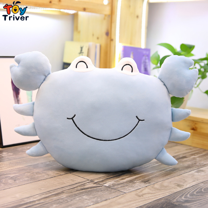 Plush Crab Toy Stuffed Cartoon Ocean Animal Doll Cushion Bedroom Decoration Toys Baby Sleeping Doll Girls Kids Christmas Gift in Stuffed Plush Animals from Toys Hobbies