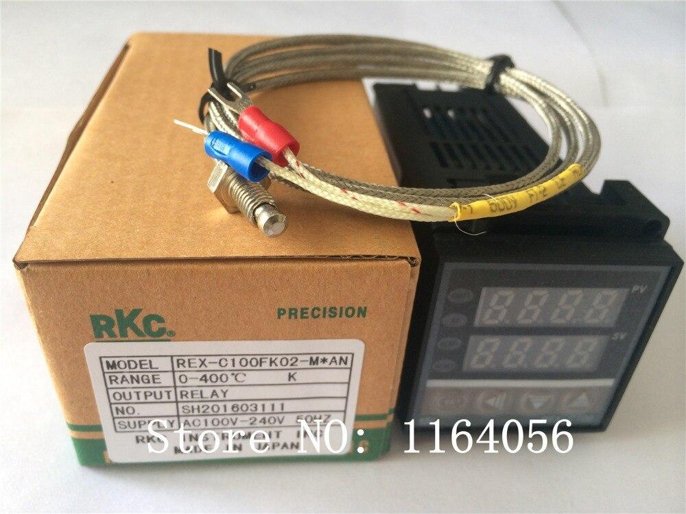PID Digitaler Temperaturregler REX-C100 (M) mit K thermoelement, relaisausgang