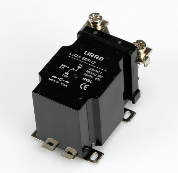 JQX-68F 1Z 80A High-power relay electromagnetic relay DC12V DC24V jqx 59f 1z jqx 80f 1z dc 24v 12vdc 110vac 220vac 80a 5 pin electromagnetic power relay spdt 1 no 1 nc