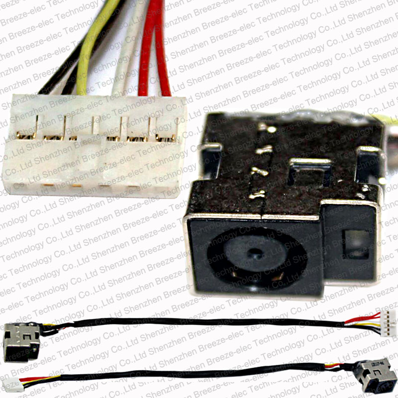 Promotion! 100% Tested Working New Laptop DC Power IN Port Jack Socket Plug with Cable connector fit for HP DV5 DV6 CQ61 series hba card for 07t5gy 0kkywj 825 br825 dual port well tested working