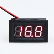Двухпроводной panel meter дюйм(ов) вольтметр lcd светодиод красный цифровой автомобиля черный