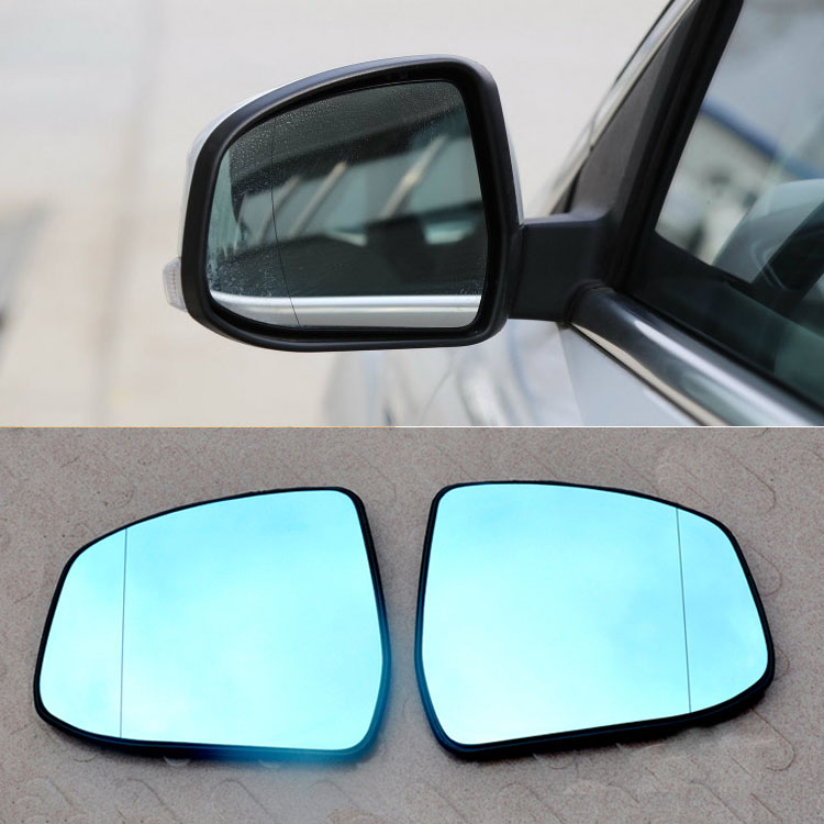 2pcs New Power Heated w/Turn Signal Side View Mirror Blue Glasses For Ford Mondeo 2pcs blue