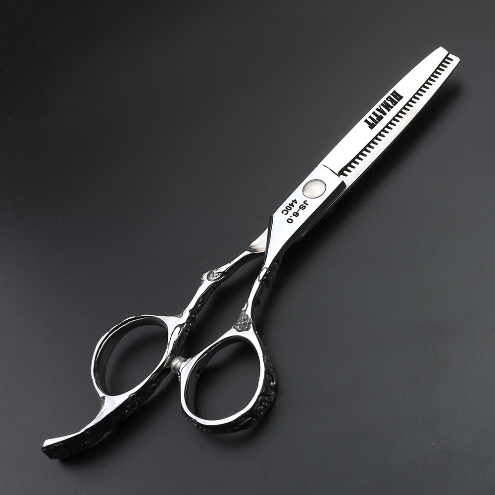 Japan 440c steel 6 inch plum handle cutting hair scissors hairdressing cut makeup scissors hairdressing scissors