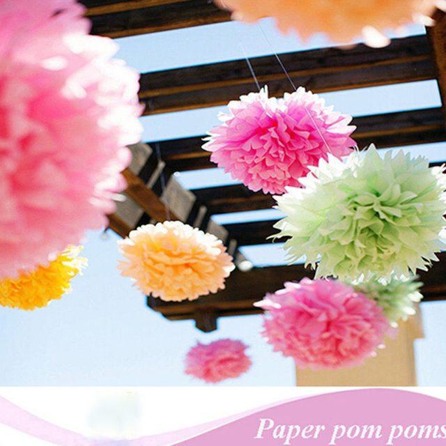 Online shop 1 pcs 20cm wedding decorations multicolor handwork paper image mightylinksfo