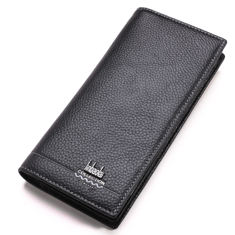 Luxury Brand 100% Men Wallets Cow Leather Top Quality Men Long Wallet Coin Purse Casual Designer with ID Card Holder Male Wallet new luxury brand 100% top genuine cowhide leather high quality men long wallet coin purse vintage designer male carteira wallets