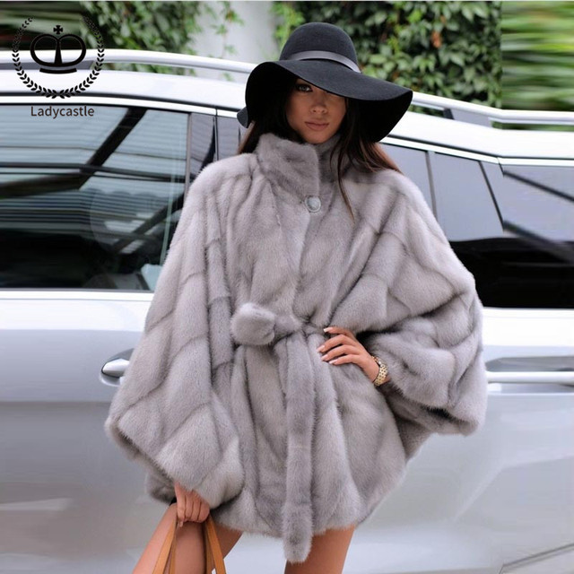 a7f91b4b1 2018 New Hot Sale Real Mink Fur Coat Full Pelt Natural Mink Fur Stand  Collar Women Real Mink Fur Outwear Jacket Genuine MKW-100