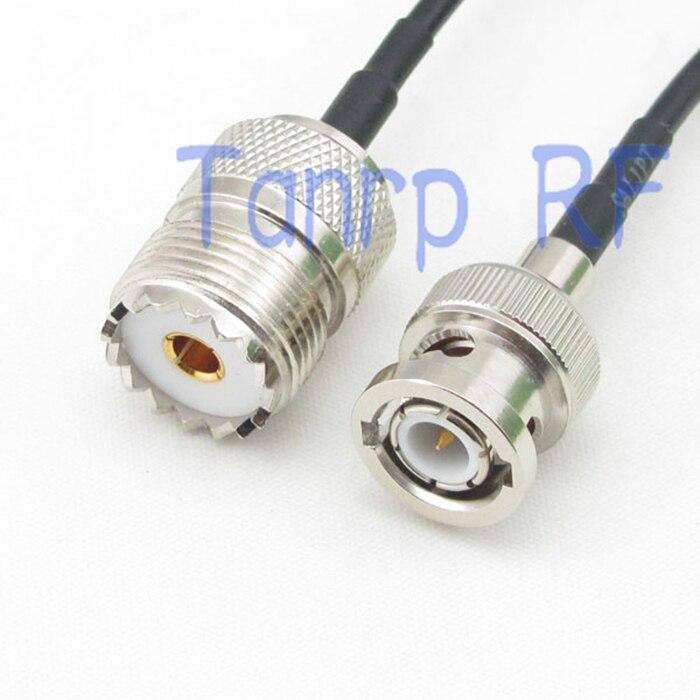 50 CM Zopf koaxial überbrückungskabel RG174 verlängerungskabel 20in BNC stecker auf UHF SO239 weiblich jack RF stecker adapter