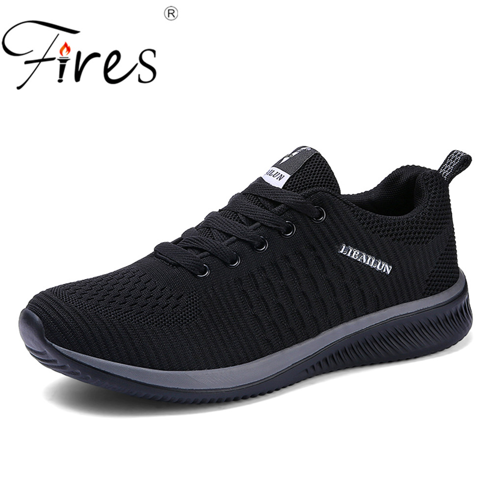 цена на Fires Man Running Shoes 45 Sneakers For Men Comfortable Sport Shoes Men Trend Lightweight Walking Shoes Breathable Zapatillas