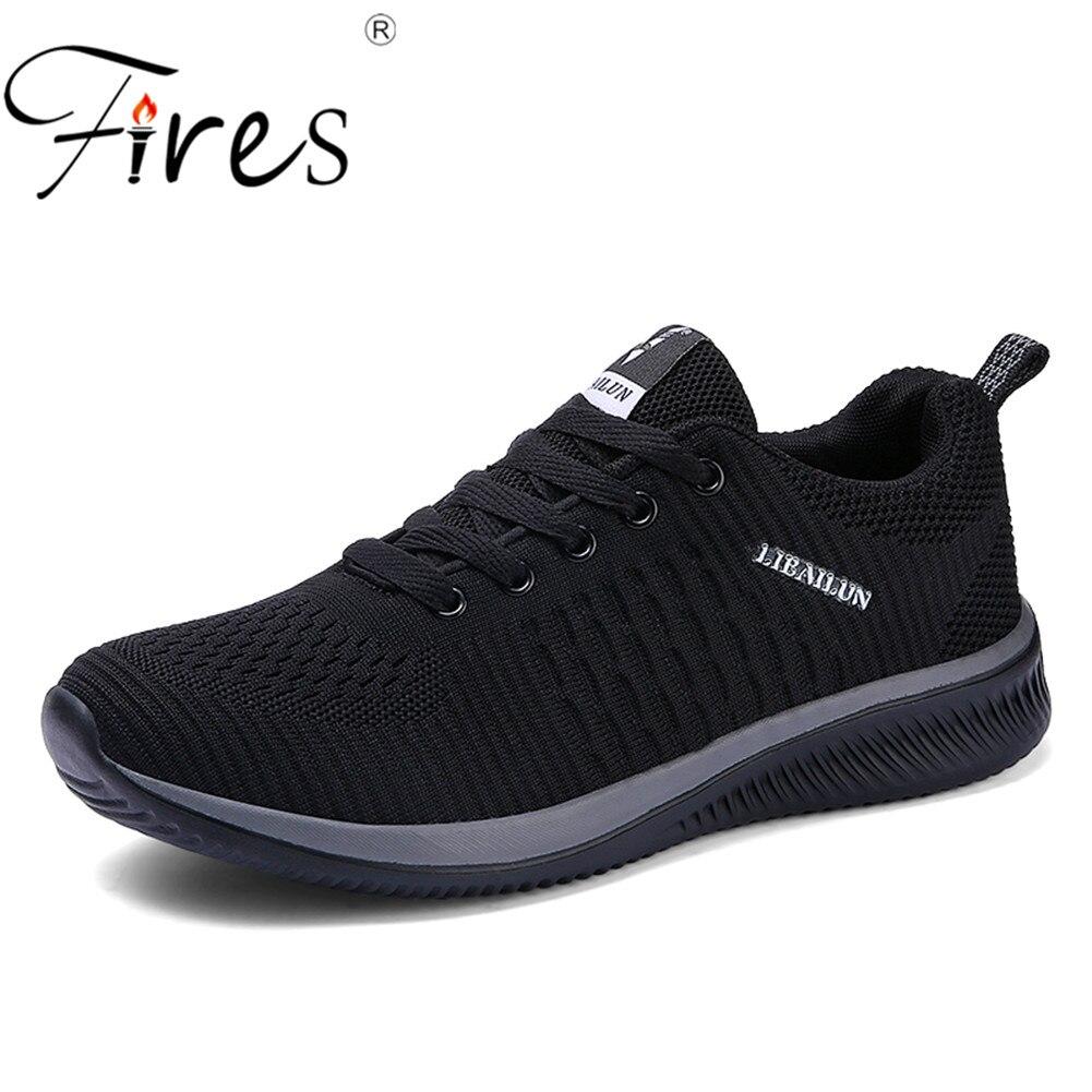 Zapatos para correr de hombre con fuego 45 Zapatillas para hombre cómodos zapatos deportivos tendencia de hombre ligeros zapatos para caminar Zapatillas transpirables
